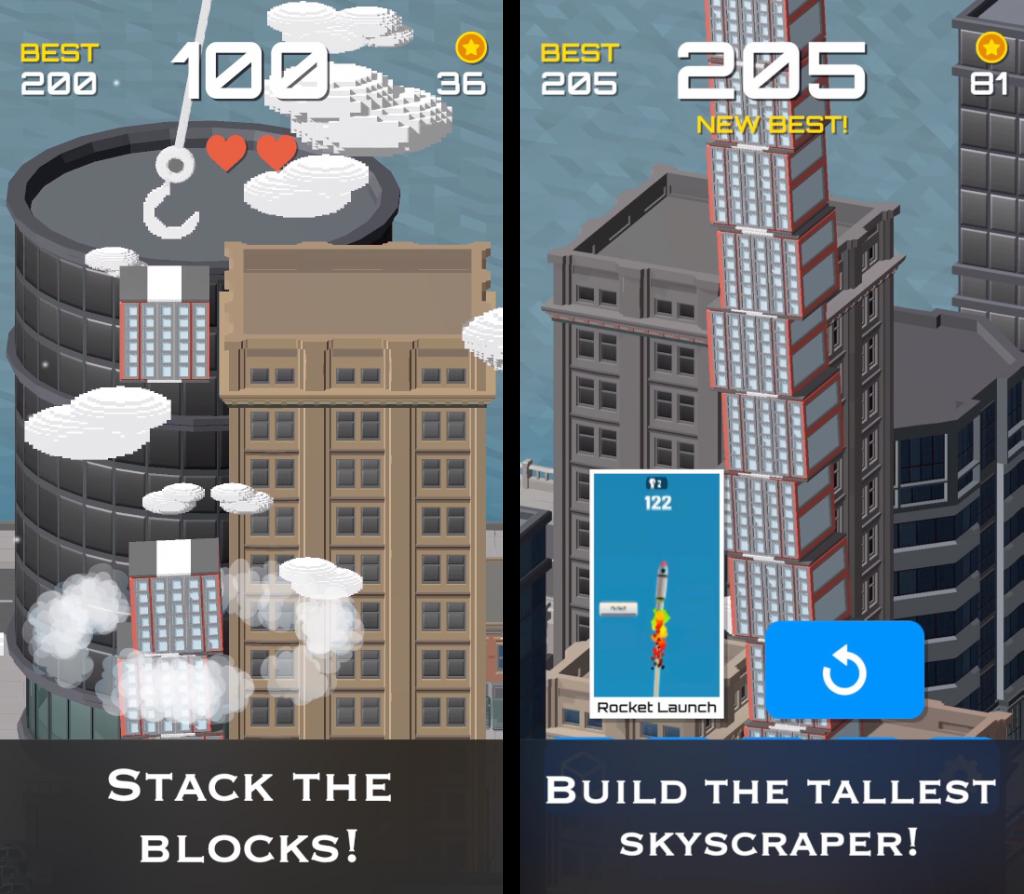 スタッキータワー タワー建設3D